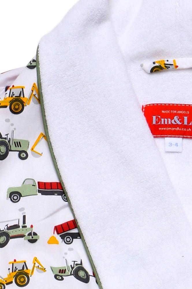 Tractor Colour Dressing Gown   Dressing Gowns   Boys   Em& Lu   Em&Lu