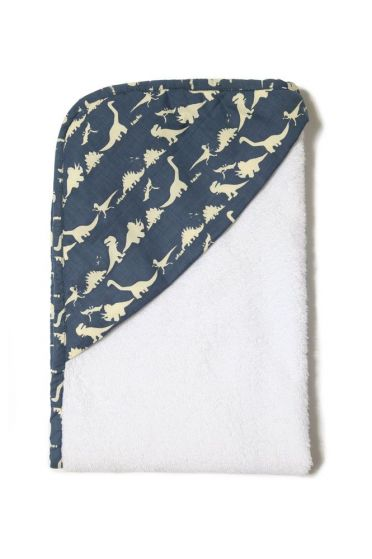 Dinosaur Blue Hooded Towel