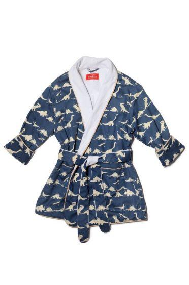 Dinosaur Blue Dressing Gown