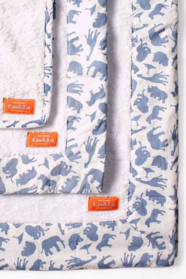 Safari Blue Towel Collection