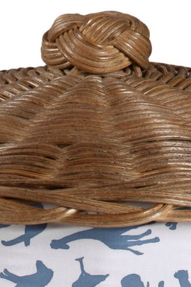 Safari Blue Laundry Basket