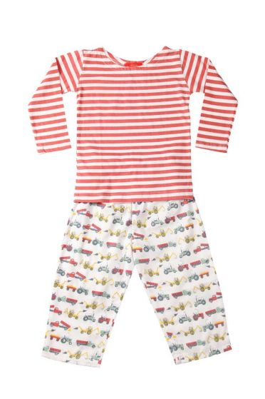 Tractor Colour Striped T-Shirt Pyjama
