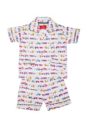 Tractor Colour Short Pyjamas