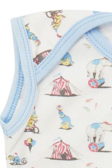 Circus Sleeveless Baby Vest