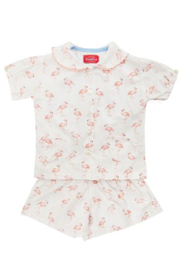 Flamingo Cotton Short Set