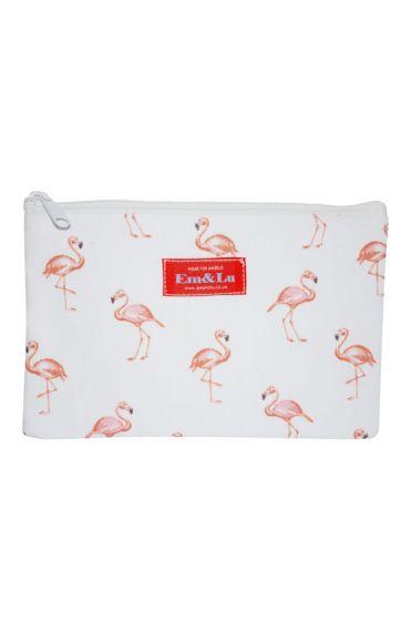 Em&Lu Flamingo Wash Bag