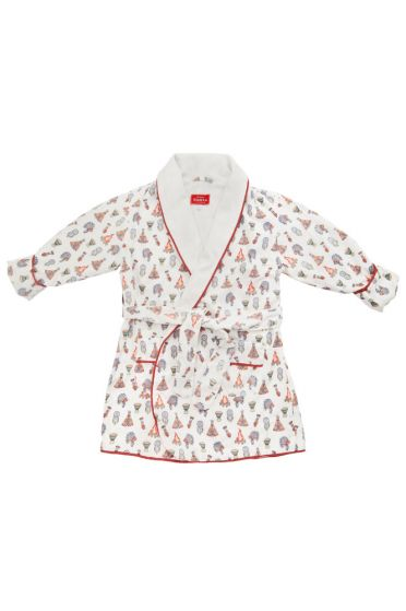 Em&Lu Red Dream Catcher Dressing Gown