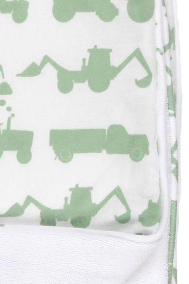 Tractor Green Towelling Blanket