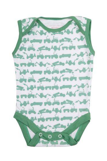 Tractor Sleeveless Baby Vest