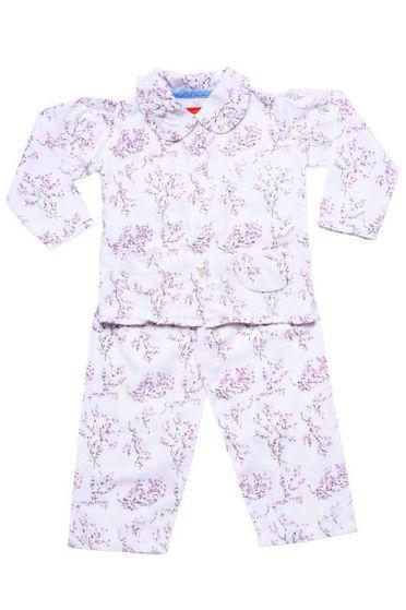 Lilac Blossom Frill Collar Pyjama