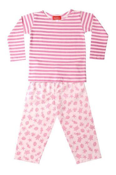 Ocean Pink Striped T-Shirt Pyjama