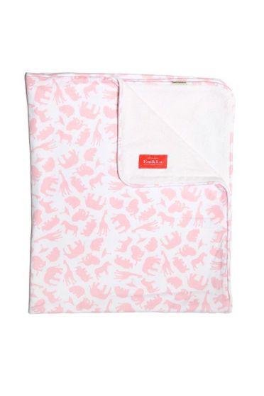 Safari Pink Towelling Blanket