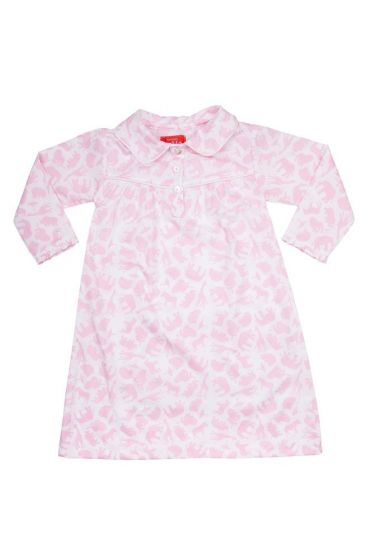 Safari Pink Long Sleeve Nightie