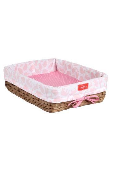 Safari Pink Wicker Tray