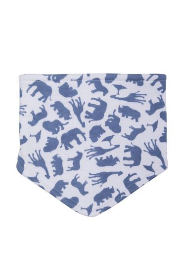 Safari Blue Dribble Bib