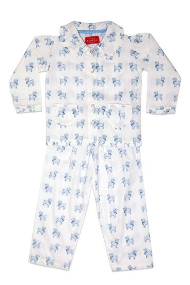 Dog Blue Frill Collar Pyjama