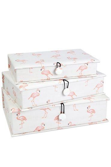 Flamingo Fabric Box Set