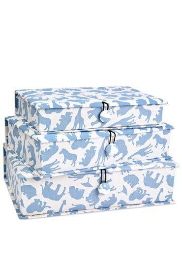 Safari Blue Fabric Box Set