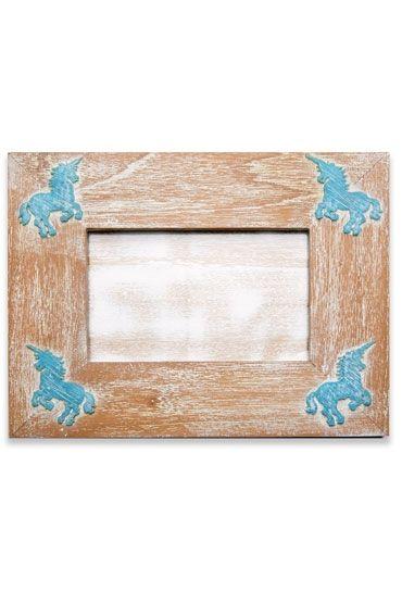 Unicorn Blue Photo Frame