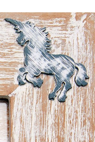 Unicorn Grey Photo Frame Detail