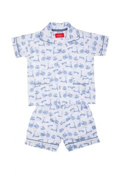 Bicycle Blue Short Pyjamas