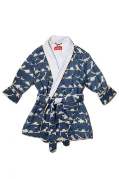 Dinosaur Blue Dressing Gown