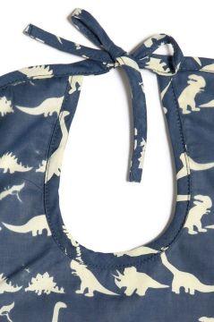 Dinosaur Blue Bib