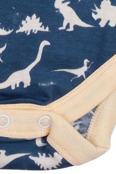 Dinosaur Blue Sleeveless Baby Vest