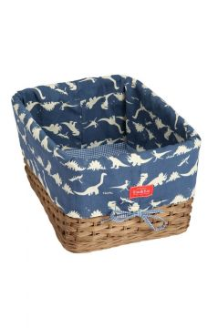 Dinosaur Blue Wicker Tray