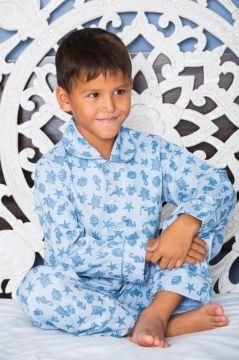 Ocean Blue Classic Pyjama