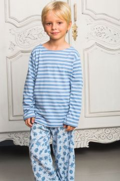 Ocean Blue Striped T-Shirt Pyjama