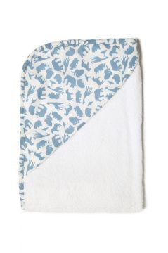 Safari Blue Hooded Towel