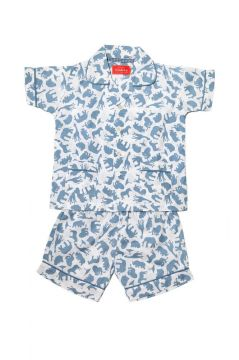 Safari Blue Short Pyjamas