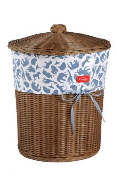 Safari Blue Laundry Basket