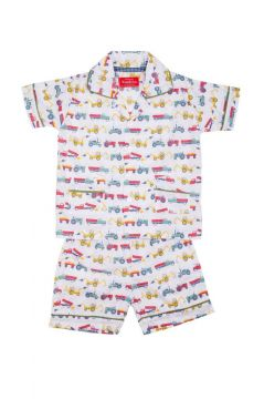 Tractor Colour Short Pyjamas