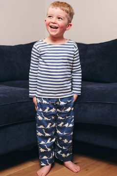 Dinosaur Blue Striped T-Shirt Pyjama