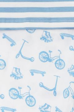 Bicycle Blue Striped T Shirt Pyjamas