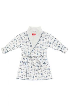 Em&Lu Blue Bicycle Dressing Gown