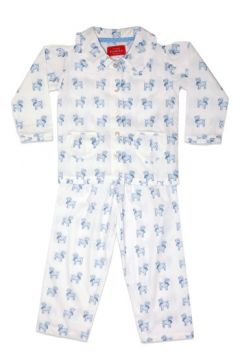 Dog Blue Frill Collar Pyjama