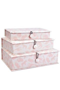 Safari Pink Fabric Box Set