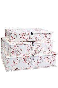 Red Blossom Fabric Box Set