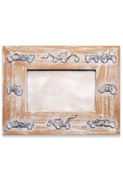 Tractor Grey Photo Frame