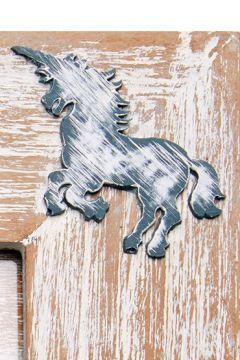 Unicorn Grey Photo Frame Detail