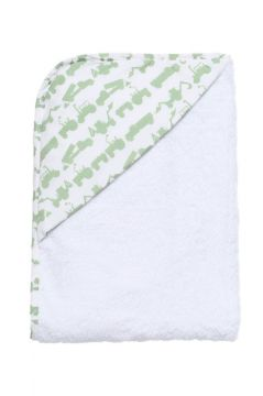 Tractor Green Hooded Towel