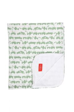 Tractor Green Towelling Blanket