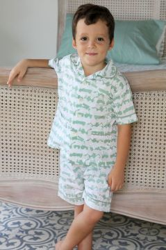 Tractor Green Short Pyjamas
