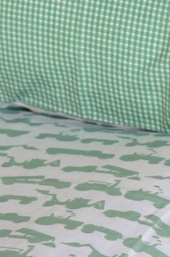 Tractor Green Duvet Cover