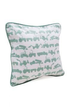 Tractor Green Cushion
