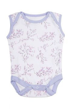Lilac Blossom Sleeveless Baby Vest
