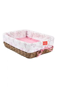 Lilac Blossom Wicker Tray